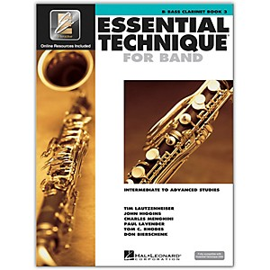 Hal Leonard Essential Technique for Band - Bb Bass Clarinet Book 3 with E... by Hal Leonard