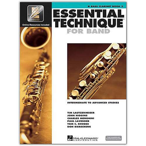Hal Leonard Essential Technique for Band -  Bb Bass Clarinet (Book 3 with EEi)-thumbnail