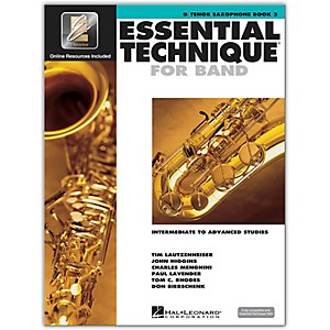 Hal Leonard Essential Technique for Band - Bb Tenor Saxophone Book 3 with ... by Hal Leonard