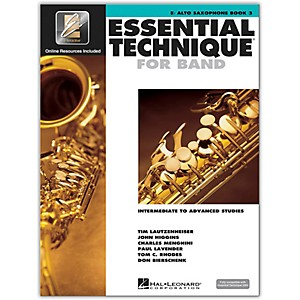 Hal Leonard Essential Technique for Band - Eb Alto Saxophone Book 3 with E...