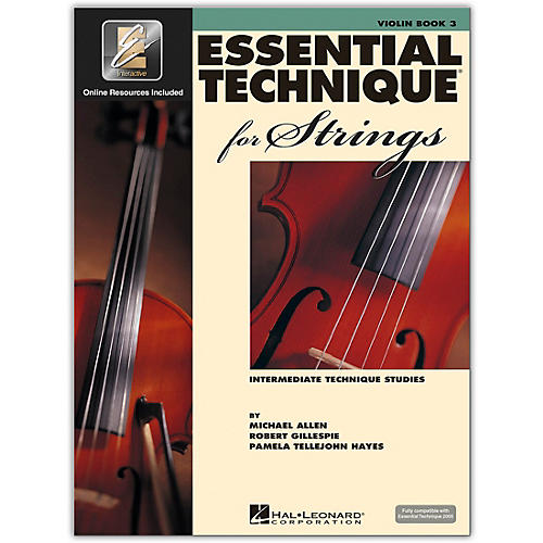 Hal Leonard Essential Technique for Strings - Violin (Book 3 with EEi)