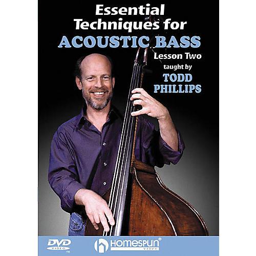Homespun Essential Techniques for Acoustic Bass 1 (DVD)-thumbnail