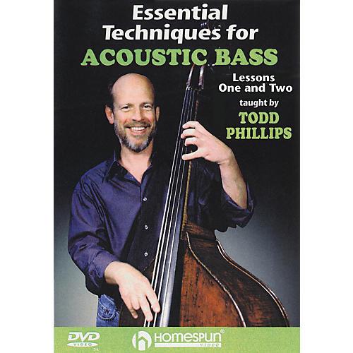 Homespun Essential Techniques for Acoustic Bass (DVD)-thumbnail