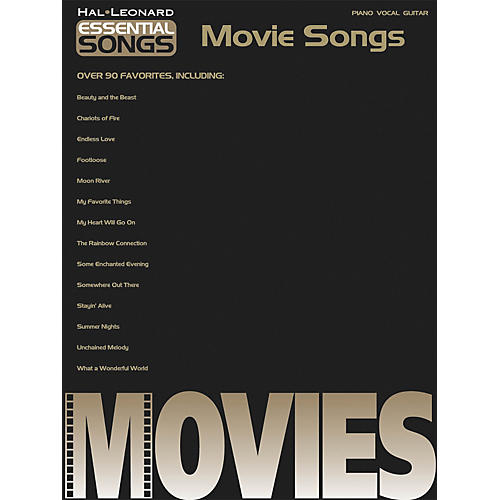 Hal Leonard Essential songs - Movie Songs Piano, Vocal, Guitar Songbook-thumbnail