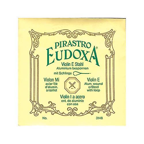 Pirastro Eudoxa Series Violin String Set 4/4 with E Steel Ball End