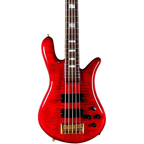 Spector Euro 5 LX 5-String Bass Guitar Black Cherry Gold Hardware