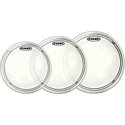 Evans EC2 Clear 10/12/14 Fusion Drum Head Pack (ETP-EC2CLR-F)