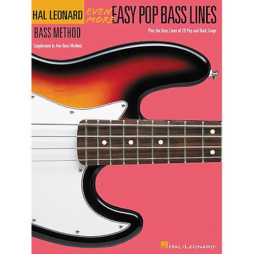 Hal Leonard Even More Easy Pop Bass Lines Book-thumbnail