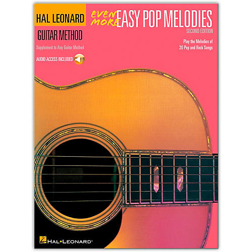 Hal Leonard Even More Easy Pop Melodies Guitar Method (Book/Online Audio)
