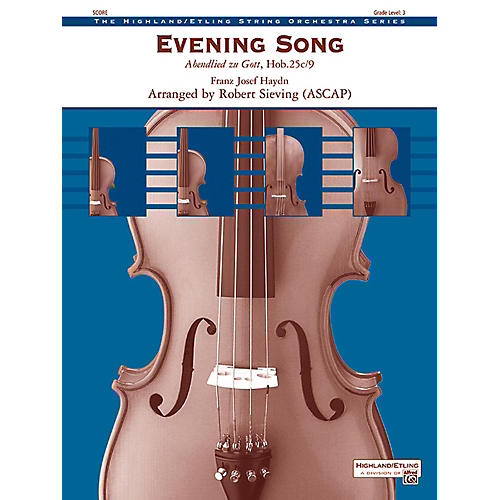 Alfred Evening Song String Orchestra Grade 3-thumbnail