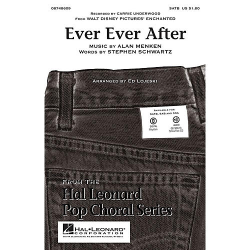 Hal Leonard Ever Ever After (From Enchanted) SATB by Carrie Underwood arranged by Ed Lojeski