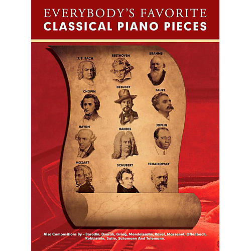 Music Sales Everybody's Favorite Classical Piano Pieces for Piano Solo-thumbnail