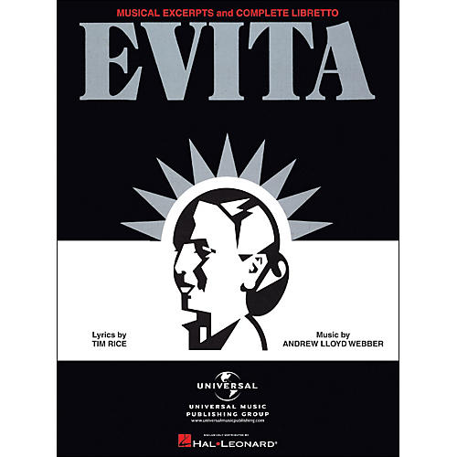 Hal Leonard Evita Musical Excerpts & Complete Libretto arranged for piano, vocal, and guitar (P/V/G)-thumbnail