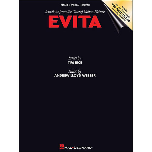 Hal Leonard Evita Selections From The Motion Picture arranged for piano, vocal, and guitar (P/V/G)-thumbnail