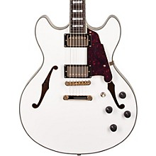 Excel Series DC Semi-Hollow Electric Guitar with Stopbar Tailpiece White