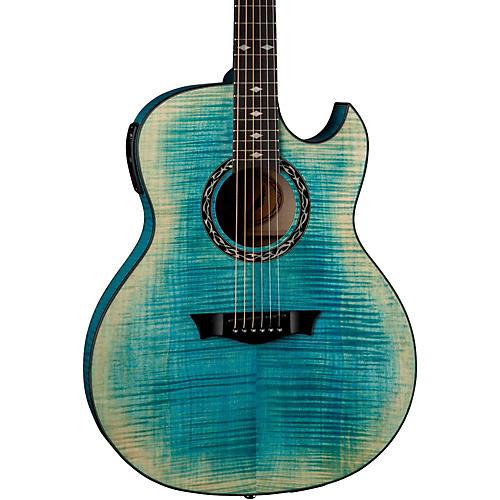 Dean Exhibition Flame Maple Acoustic-Electric Guitar-thumbnail