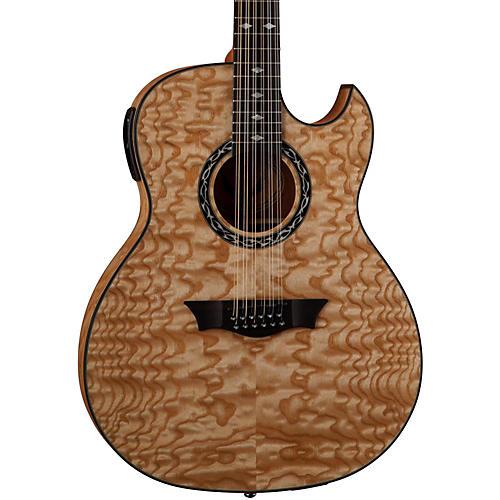 Dean Exhibition Quilt Ash 12-String Acoustic-Electric Guitar-thumbnail