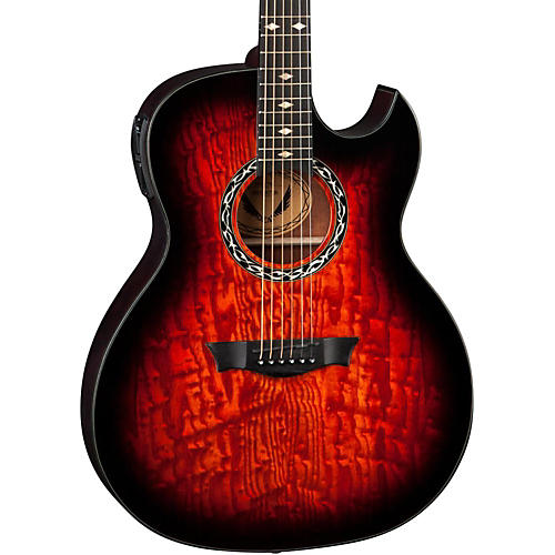 Dean Exhibition Quilt Ash Acoustic-Electric Guitar with Aphex Tiger Eye