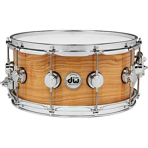 DW Exotic Figured Olive Ash Lacquer Snare 14 x 6.5 in. Chrome Hardware