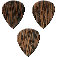 Clayton Exotic Wedge Wood Guitar Picks - 3 Pack