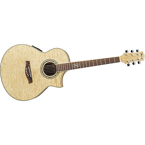 Ibanez Exotic Wood EW20QMEBBD Cutaway Acoustic-Electric Guitar Natural