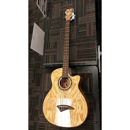Dean Exotica Quilted Ash 4-String Acoustic Bass Guitar
