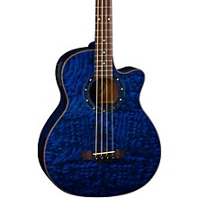 Exotica Quilted Ash Acoustic-Electric Bass Guitar Blue