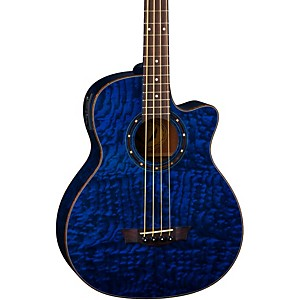 Dean Exotica Quilted Ash Acoustic-Electric Bass Guitar by Dean