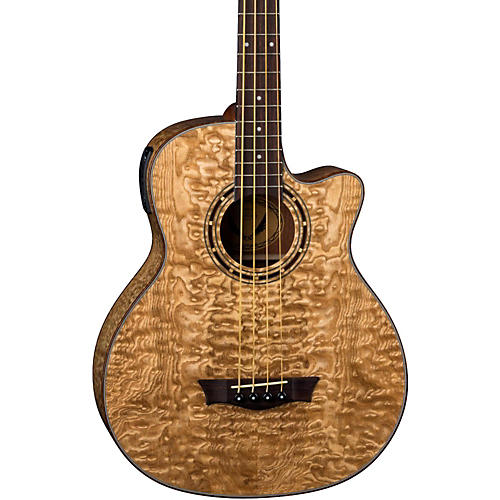 Dean Exotica Quilted Ash Acoustic-Electric Bass Guitar Gloss Natural