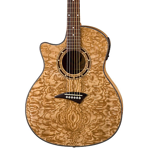 Dean Exotica Quilted Ash Left-Handed Acoustic-Electric Guitar Gloss Natural
