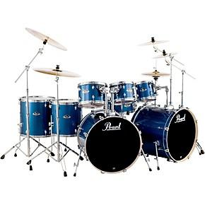 pearl export double bass 8 piece drum set electric blue sparkle guitar center. Black Bedroom Furniture Sets. Home Design Ideas
