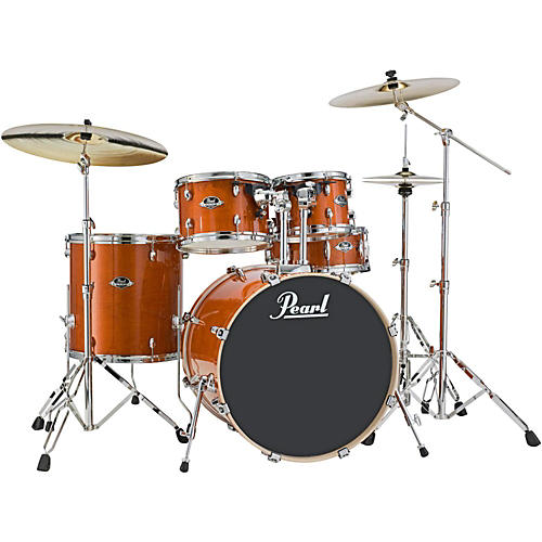 pearl export exl new fusion 5 piece drum set with hardware honey amber guitar center. Black Bedroom Furniture Sets. Home Design Ideas