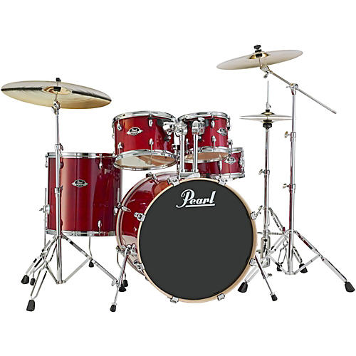 Pearl Export EXL New Fusion 5-Piece Drum Set with Hardware Natural Cherry-thumbnail
