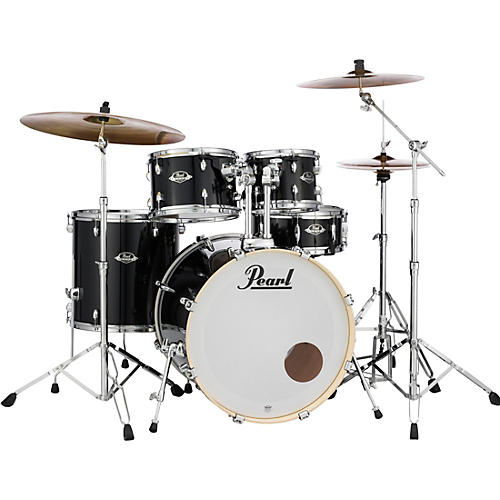 Pearl Export New Fusion 5-Piece Drum Set with Hardware Smokey Chrome-thumbnail