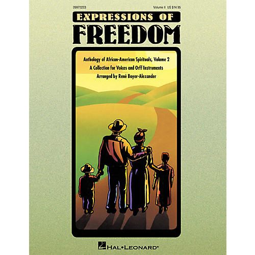 Hal Leonard Expressions Of Freedom Volume 2 (Anthlogy of African American Spirituals) by Rene Boyer-Alexander (Orff)-thumbnail