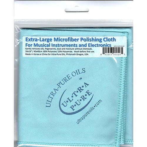 Ultra-Pure Extra-Large Microfiber Polishing Cloth Blue