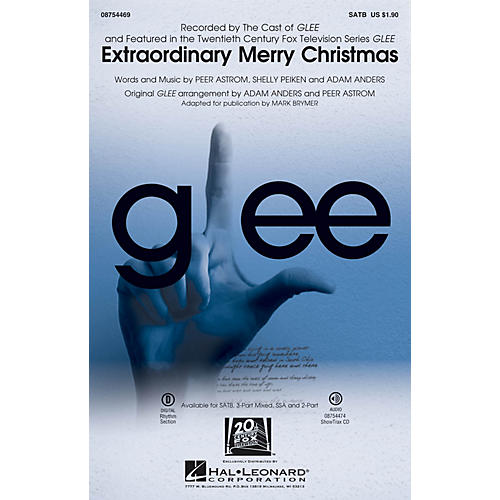 Hal Leonard Extraordinary Merry Christmas 2-Part by Glee Cast Arranged by Mark Brymer