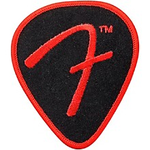 Fender F Pick Patch, Black and Red