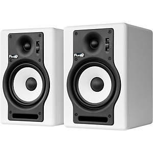 Fluid Audio F5 5 inch Active Studio Monitor - White Pair by