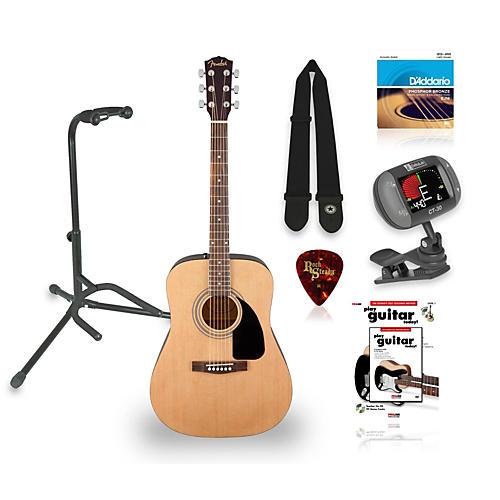 Fender FA-100 Acoustic Guitar with Gig Bag Bundle