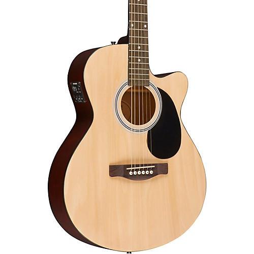 fender fa 135ce acoustic electric guitar natural guitar center. Black Bedroom Furniture Sets. Home Design Ideas