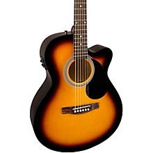 Fender FA-135CE Cutaway Concert Acoustic-Electric Guitar Level 1 3-Color Sunburst