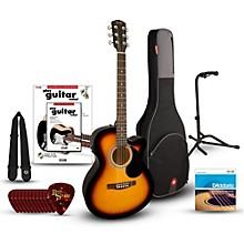 FA135CE Concert Acoustic-Electric Guitar Bundle 3-Color Sunburst