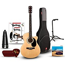 Fender FA135CE Concert Acoustic-Electric Guitar Bundle