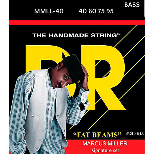 DR Strings FATBEAM  Marcus Miller Stainless Steel 4-String Bass Strings Lite (40-95)