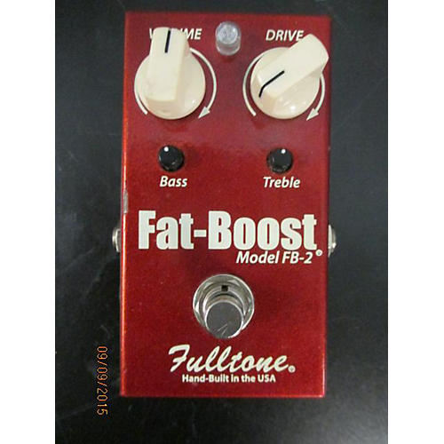 Fulltone FB2 Fat Boost Clean Booster Red Effect Pedal-thumbnail
