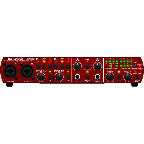 Behringer FCA610 Firepower/USB Audio Interface-thumbnail