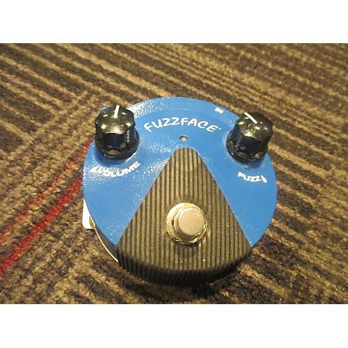 Dunlop FFM1 Silicon Fuzz Face Mini Blue Effect Pedal-thumbnail