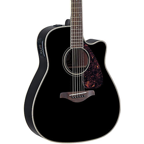 Yamaha FG Series FGX720SC Acoustic-Electric Guitar Black