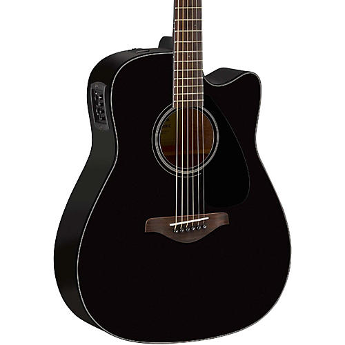 yamaha fg series fgx800c acoustic electric guitar black